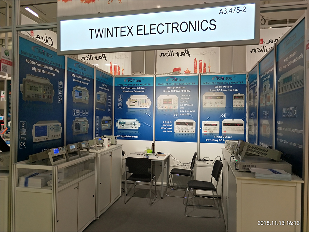 TWINTEX exhibited at Electronica 2018 in Munich